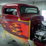 Flames and Pinstripes.