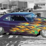 The double set of Flames over a purple base on this race car looked fantastic! ....A lot of work, but fantastic!