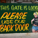 Gate Sign.