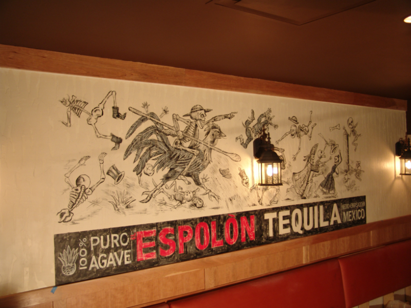 Espolon's day of the dead logo.