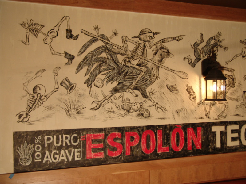 Detail of Espolon Tequila logo