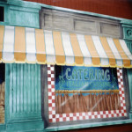 These next 4 store fronts were done on flat plywood sheets. Bendi did it!