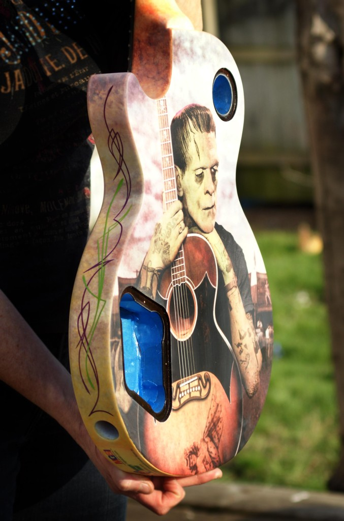 "Robert asked me to lay a couple lines on the ""Franky Goes to Hollywood"" guitar. Very cool piece and I was happy to be a small part of it!"