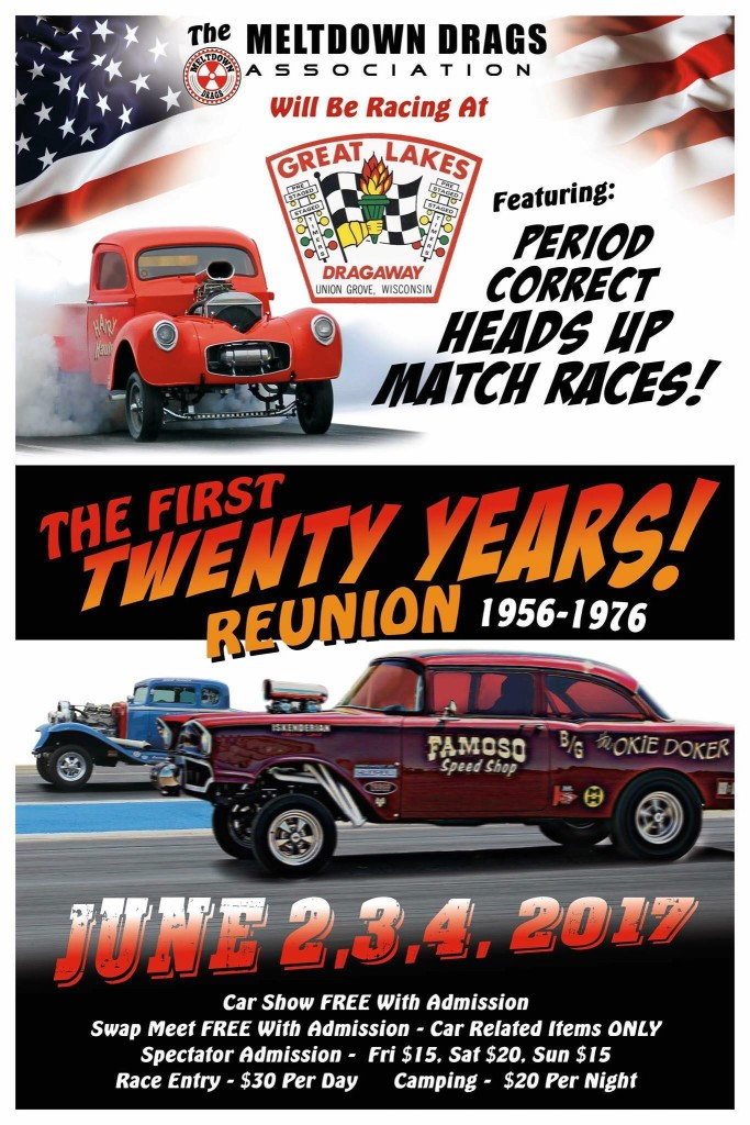 The First 20 Years Reunion. 1956-1976 @ Great Lakes Drag a way | Union Grove | Wisconsin | United States