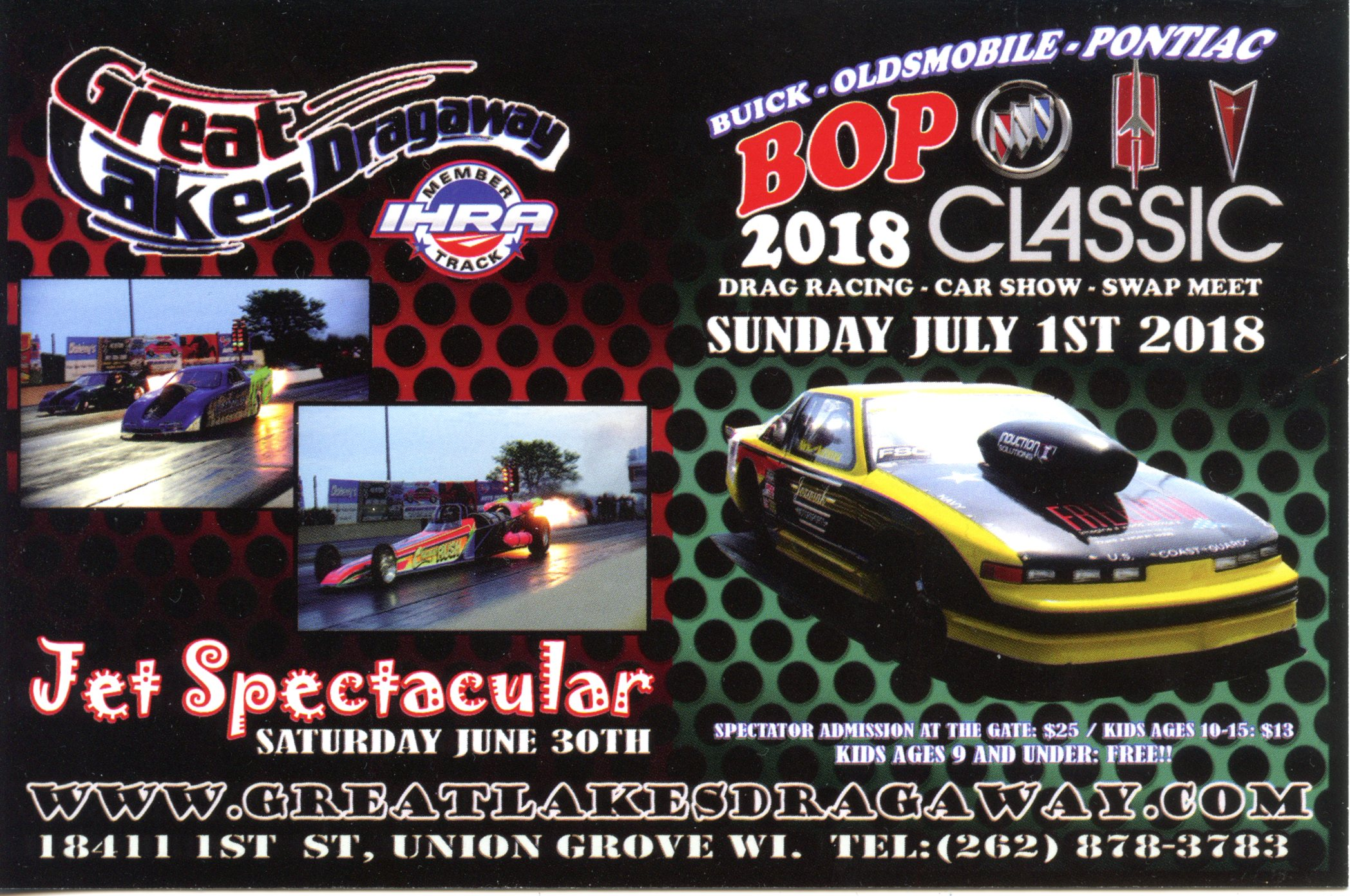 BOP 2018 Classic, Great Lakes Dragaway @ Great Lakes Dragaway | Union Grove | Wisconsin | United States