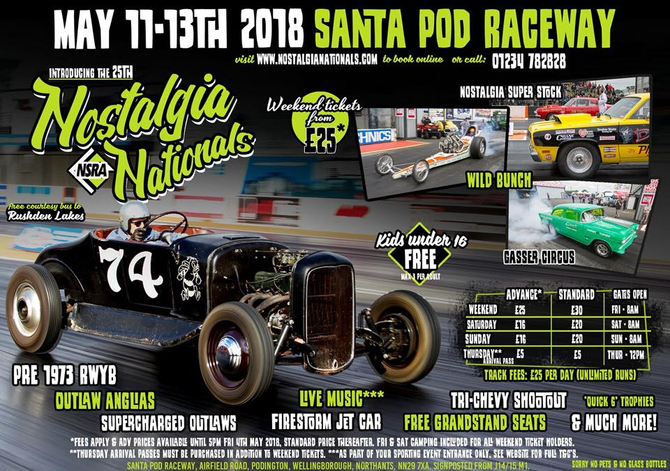 Nostalgia Nationals (England) @ Santa Pod Raceway | Podington | England | United Kingdom