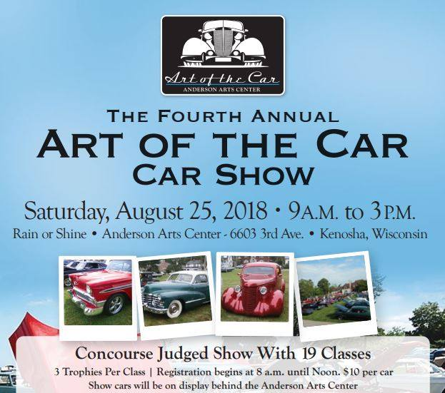 The Art Of The Car car show @ Anderson Arts Center | Kenosha | Wisconsin | United States