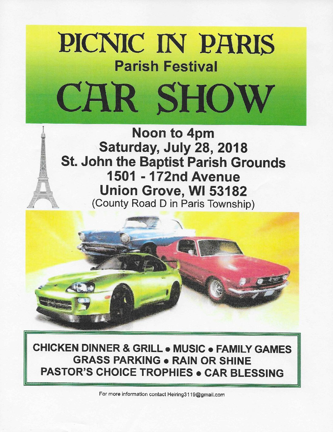 Picnic in Paris Car Show @ St. John Baptist Parish Grounds | Hayward | California | United States