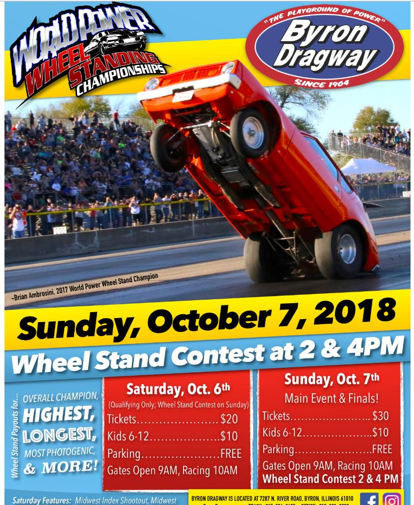 Wheel Standing Championships @ Byron Dragway | Byron | Illinois | United States