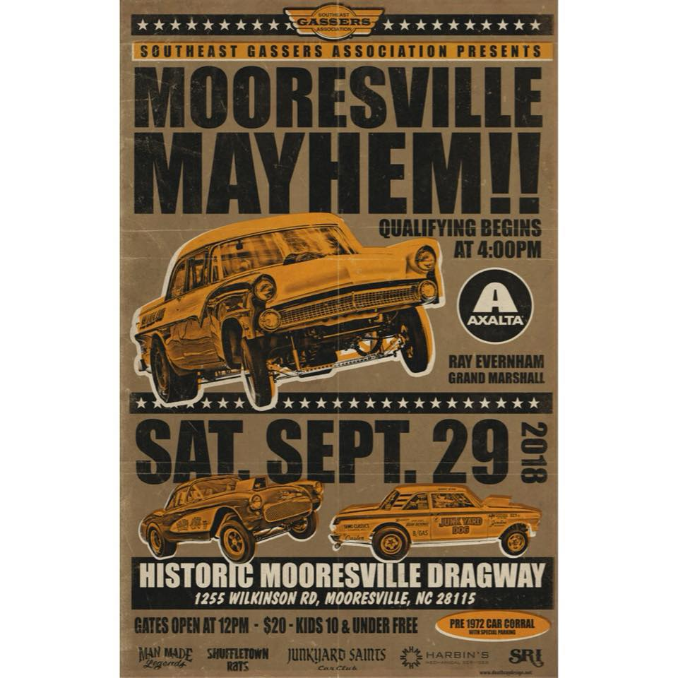 Mooresville Mayhem!! @ Mooresville Dragway | Mooresville | North Carolina | United States