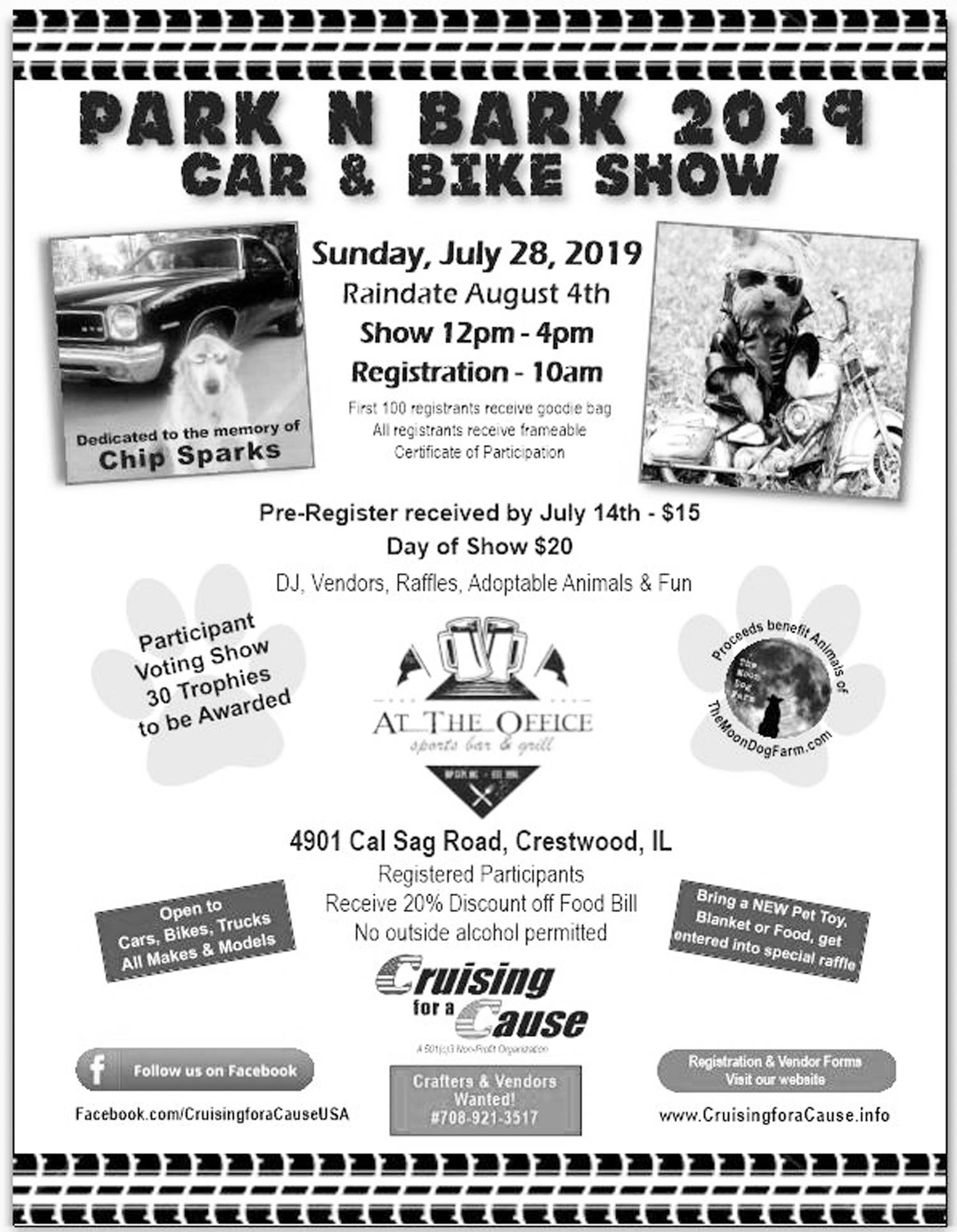 Park N Bark Car and Bike Show @ At The Office