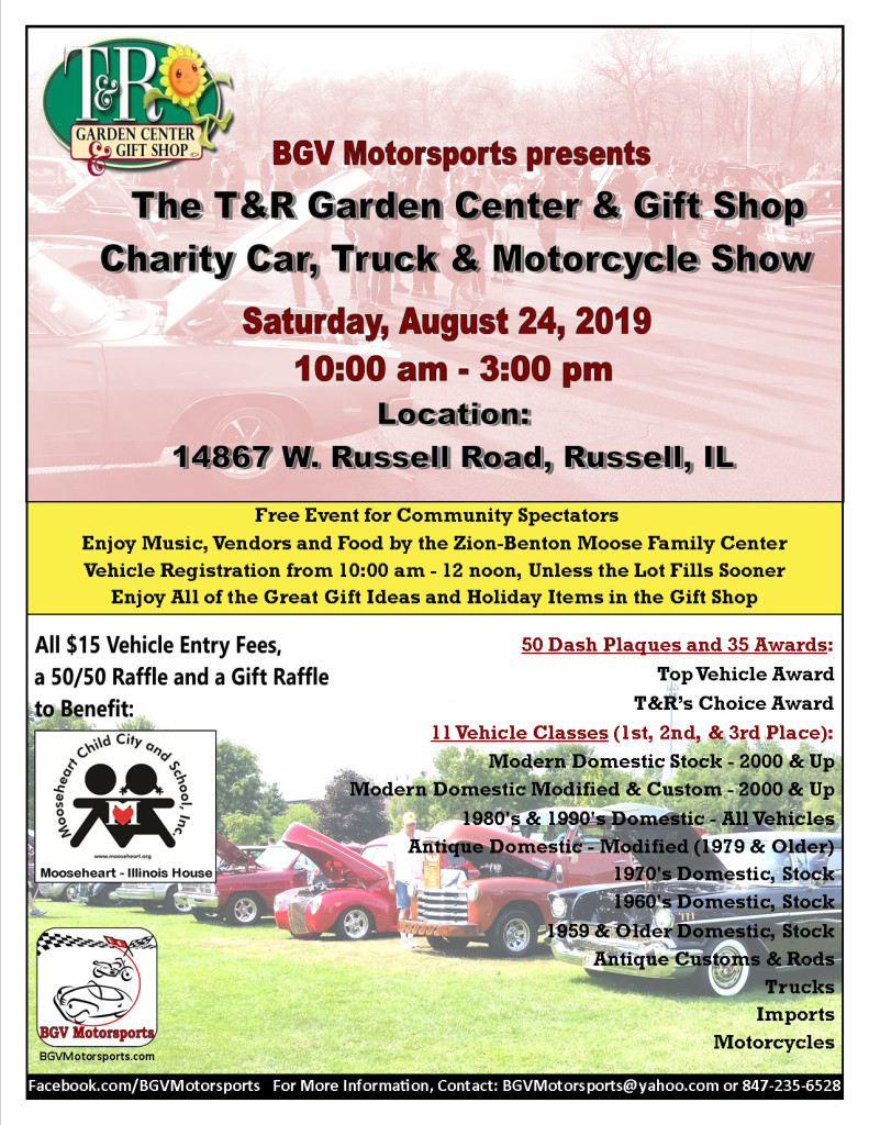 T&R Charity Car, Truck and Motorcycle Show @ T&R Garden and Gift Center