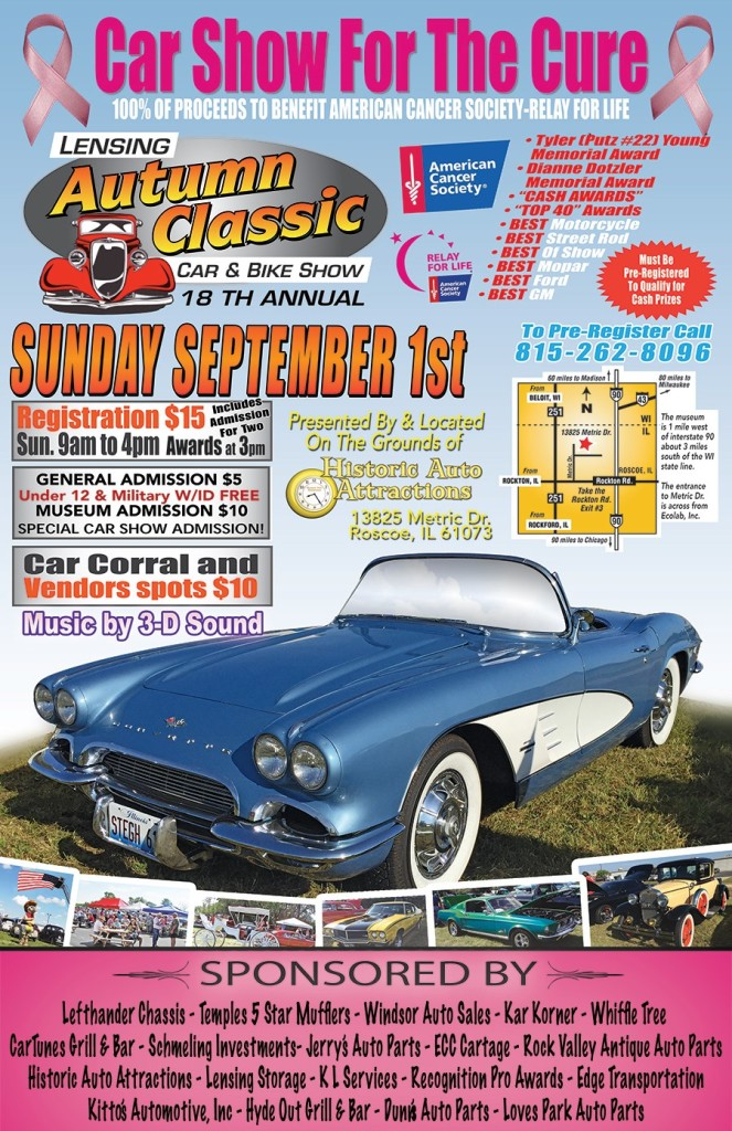 Car Show For The Cure @ historic auto attractions