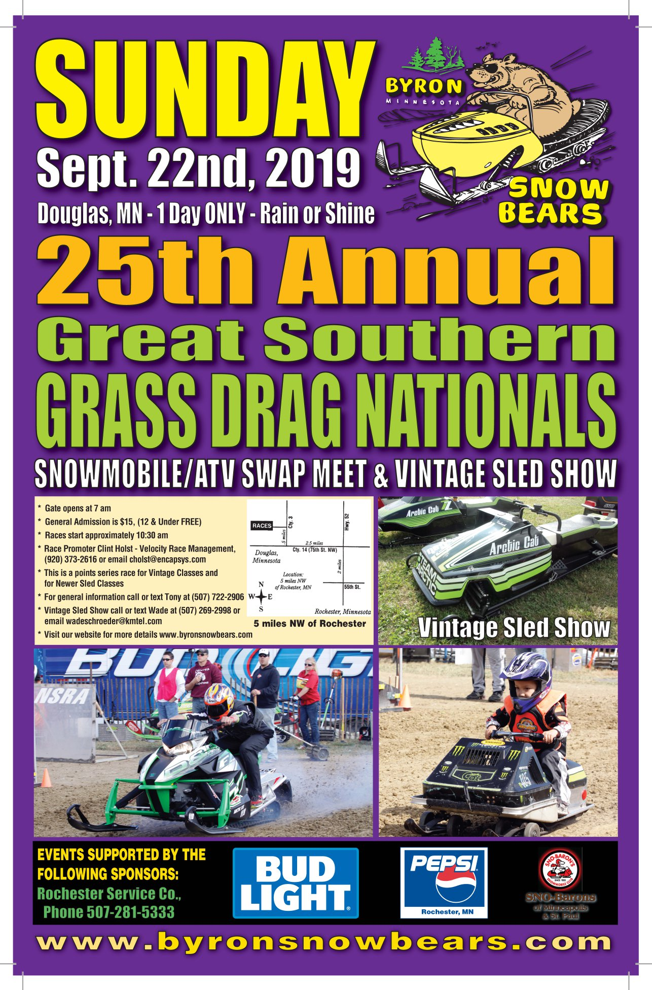Great Southern Snowmobile Grass Drags