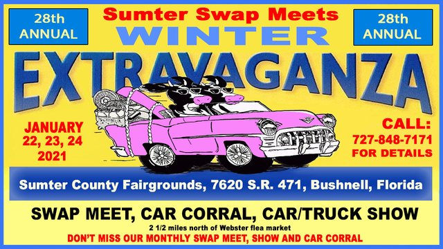 Winter Extravaganza Swap Meet @ Sumter County Fairgrounds