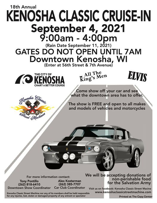 KENOSHA CLASSIC CRUISE-IN @ Downtown Kenosha